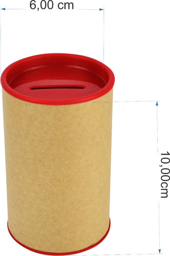 kit 100 cofrinho papelão 6 x 10cm + 100 tubetes 13 cm