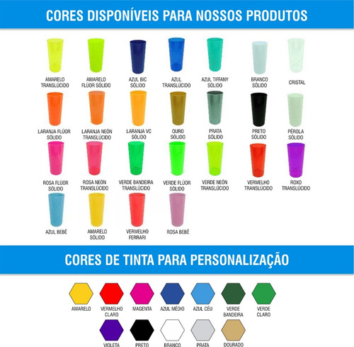 kit 100 copos long drink 320ml personalizado
