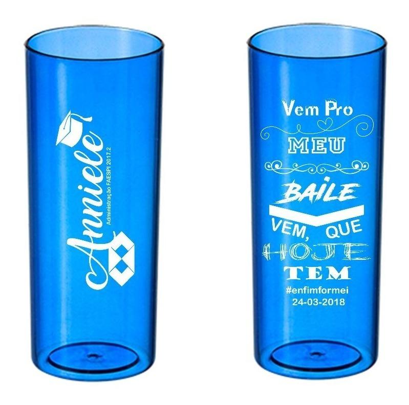 Kit 100 Copos Long Drink Personalizados Para Formatura R
