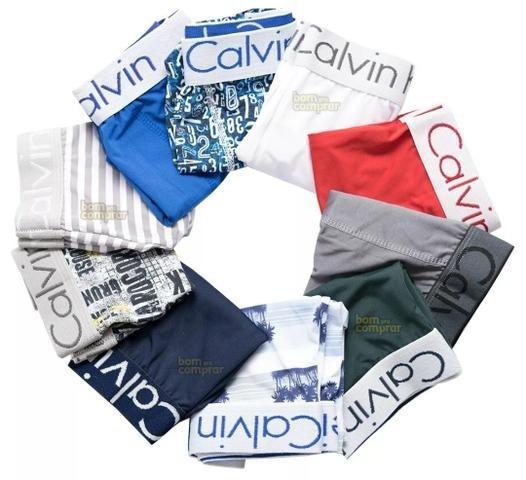 d92065656641ea Kit 100 Cuecas Calvin Klein Microfibra Estampadas Promoção
