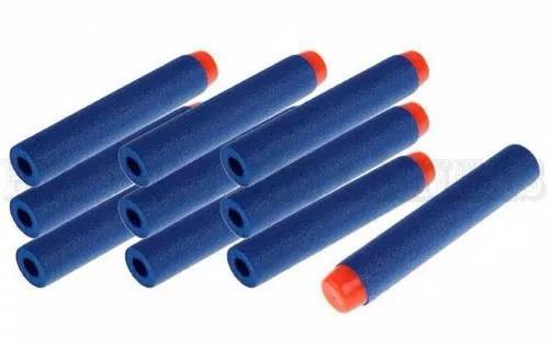 kit 100 dardos nerf  coloridos hasbro refil munição lançador