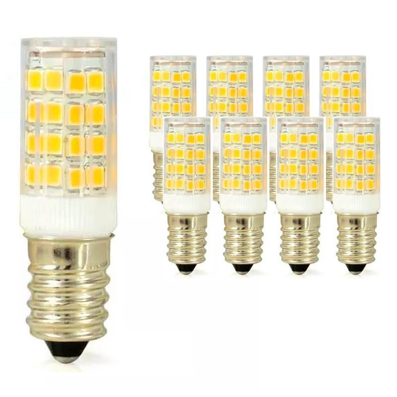 Lampada Led E14 Para Lustre.Kit 100 Lampada Led E14 5w Pendente Lustre Geladeira Bivolt