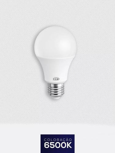 kit 100 lampadas led 9w bulbo branca fria l&d 6500k led-1024