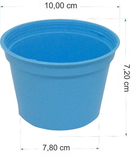 kit 100 latinhas + 100 tubetes + 100 vasinho 7,2 cm