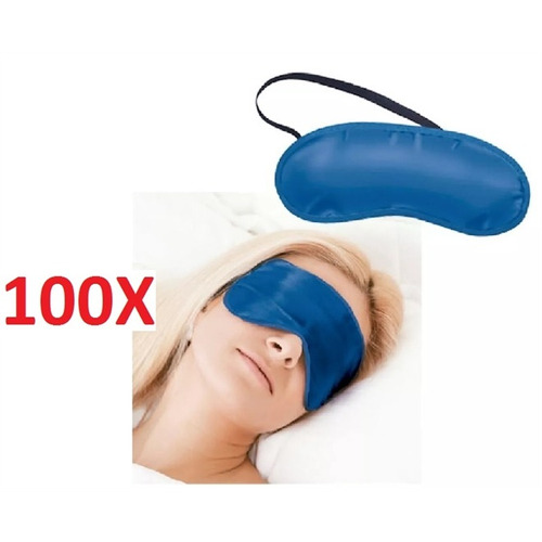 kit 100 máscara dormir venda tapa olho durma bem viagem sono
