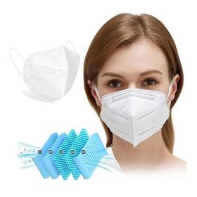Kit 100 Máscara Kn95 Proteção 5 Camada Respiratória Pff2 N95