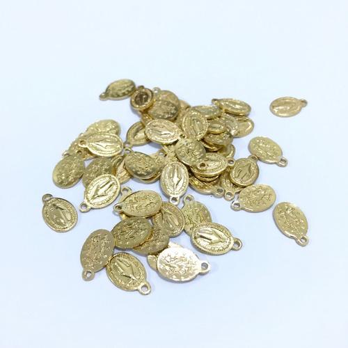 kit 100 mini medalhas milagrosa nossa senhora das graças