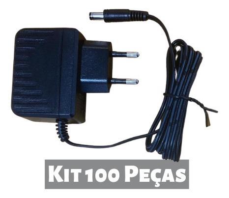 kit 100 peças - fonte de alimentação 12v 500ma