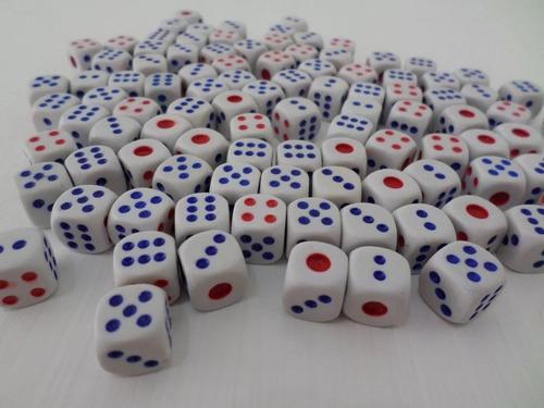 kit 100 peças jogo de dados rpg 14mm 6 faces tabuleiro