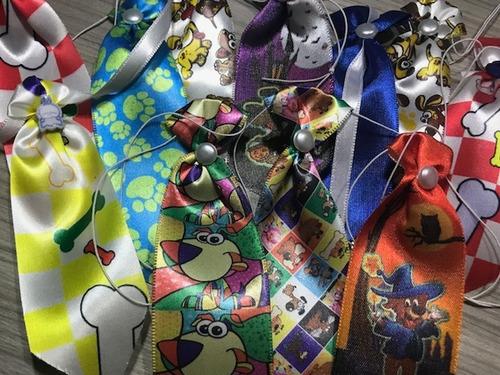 kit 100 pet shop,laços,gravatas,laços pescoço + brinde