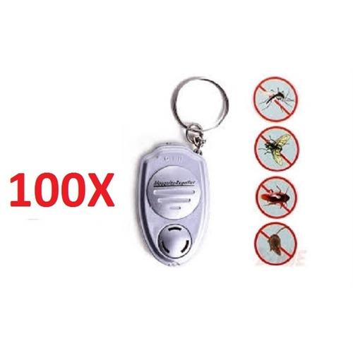 kit 100 repelente de moscas pernilongo ultrassônico chaveiro