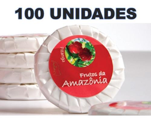 kit 100 sabonete 20 gr hidratante luxo pitanga hotel pousada