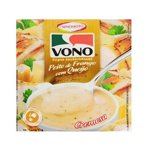 kit 100 sopa de peito de frango com queijo vono 17g