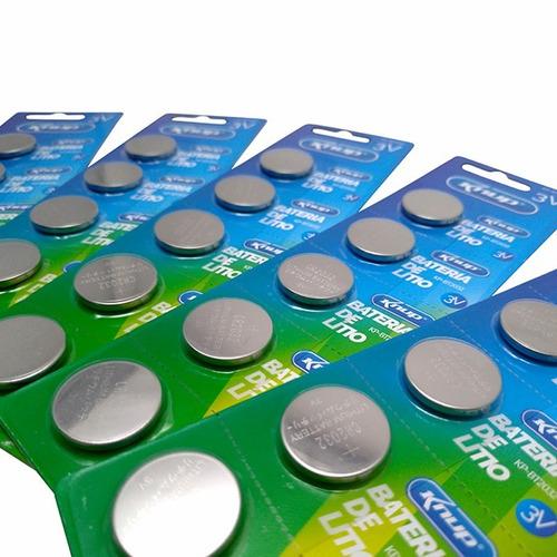 kit 1000 baterias cr2032 3v lithium placa mãe promoção