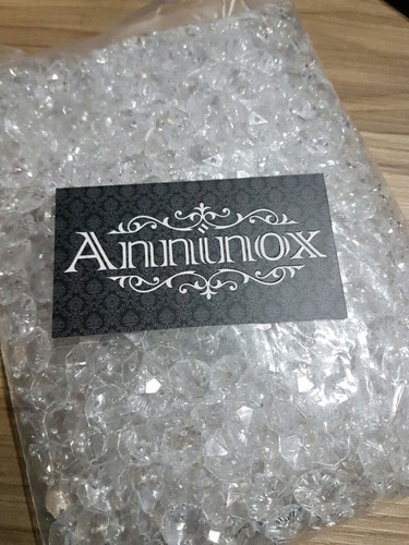 kit 1000 castanhas cristal acrílico 14mm + 1000 argolas inox