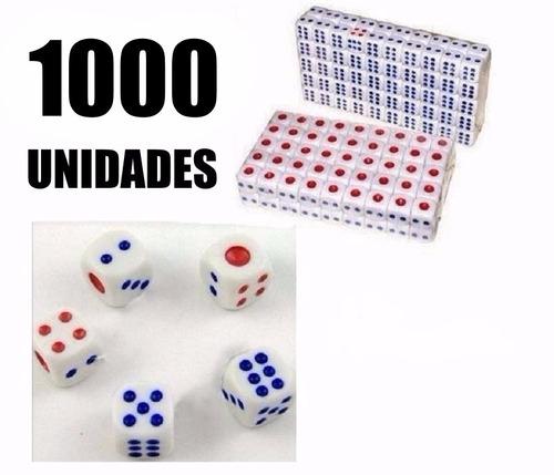 kit 1000 unidades dados rpg 14mm 6 faces tabuleiro jogos