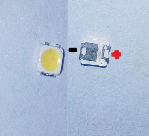 kit- 100x led 3535 6v 2w invertido + 100 led 2828 3v 1.5w