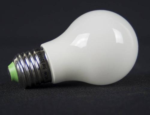 kit 10lampada bulbo led vidro 360°ip57 prova d`agua 5w 6500k