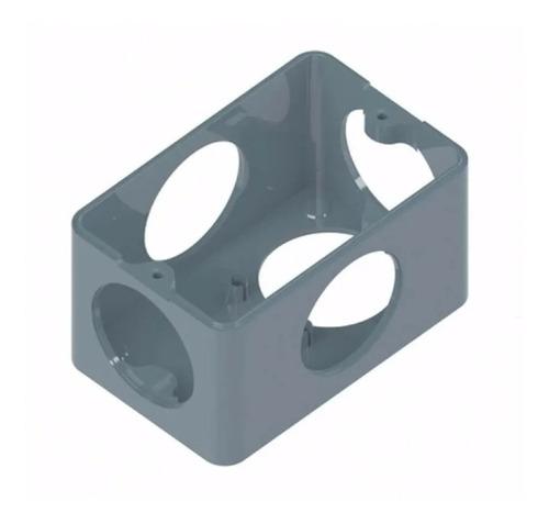 kit 10pçs caixa passagem condulete 1/2-3/4 cinza + tampa