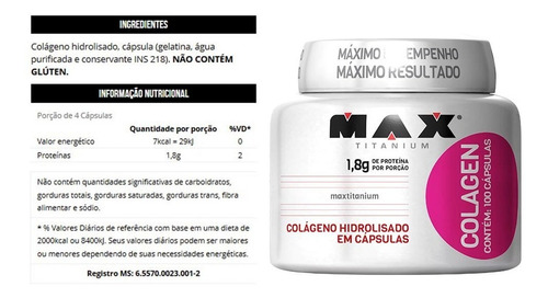 kit 10x colágeno hidrolisado - 1000 capsulas - max titanium