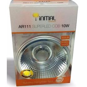 Kit 10x Lampada Ar111 Led 10w Branco Quente