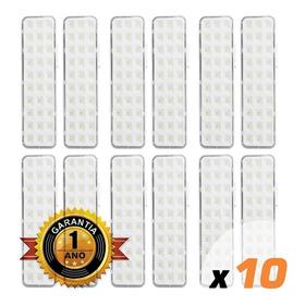 Kit 10x Luminaria Emergência 30 Leds Premium Promoção C1