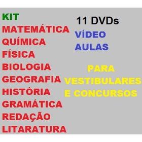 Kit 11 Dvds Vídeo Aulas Para Vestibulares E Concursos