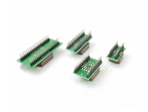kit 11 peças - adaptadores gravador universal - sop dip plcc
