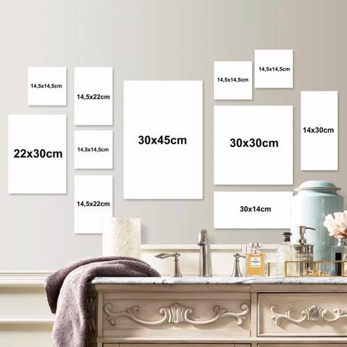 kit 11 placas decorativas - 16 modelos - frete grátis