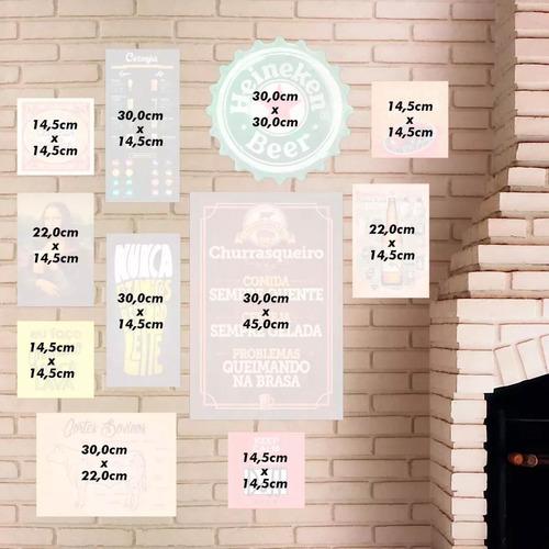 kit 11 placas quadros decorativos sala quarto 16 modelos