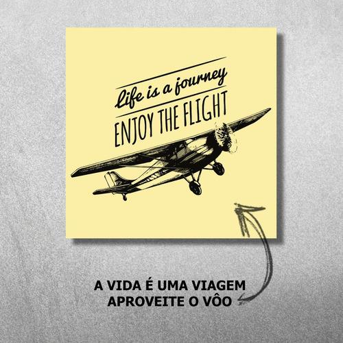 kit 11 quadros decorativos flight