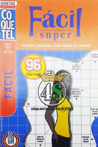 kit 11 revista livro coquetel desafio palavra cruzada
