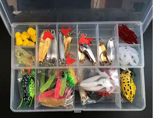 kit 110 señuelos cuchara pesca tarariras dorado envío gratis