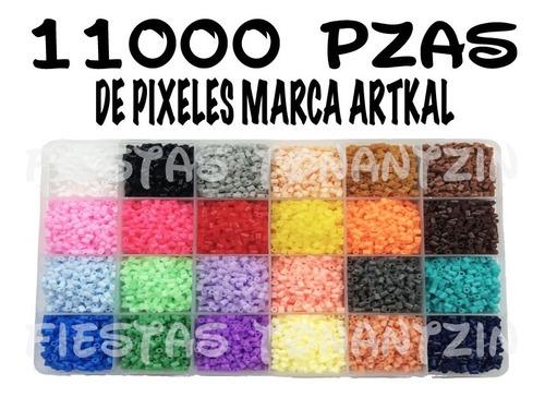 kit 11,000 pzas perler beads hama pixel art pixeles artkal