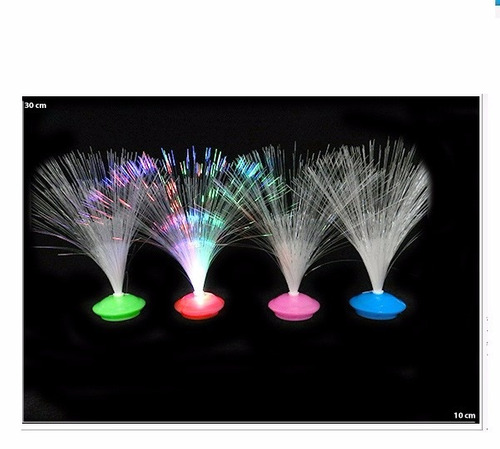 kit 12 abajur mesa fibra optica festa casamento decoração