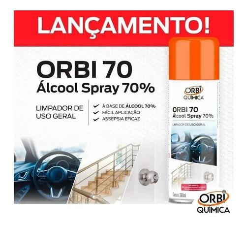 kit 12 alcool spray 70% limpador de uso geral 300ml