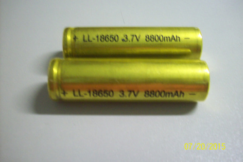 kit 12 bateria18650 li-ion  8800mh 4.2v lanterna tática led