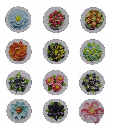 kit 12 bico russo inox confeitar bolo doces cupcake flores