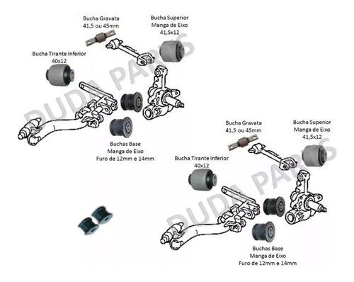 kit 12 buchas suspensão traseira honda civic 2001 até 2005