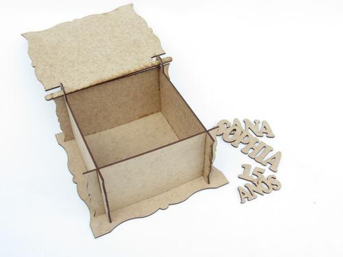 kit 12 caixinhas personalizadas debutante lembrancinha mdf
