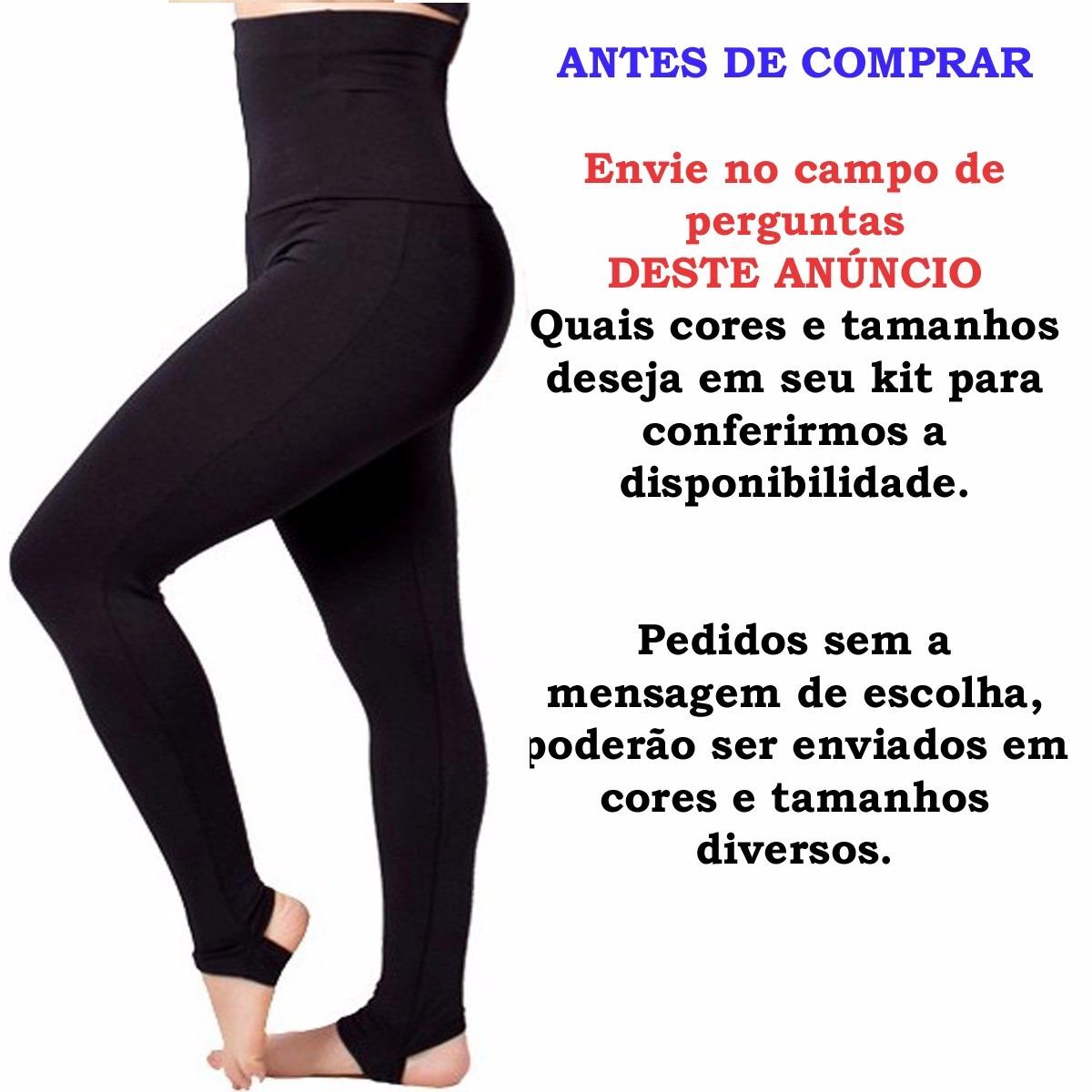 205d1c720 kit 12 calça legging cintura super alta modeladora fitness. Carregando zoom.