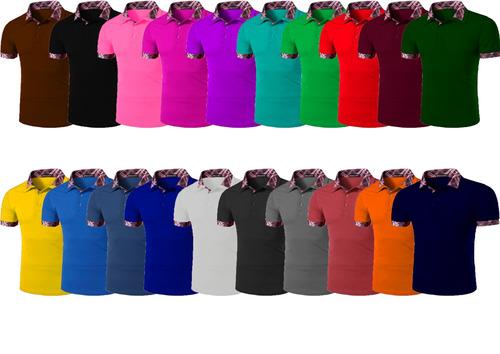 kit 12 camisas polo masculina atacado camisetas luxo blusas