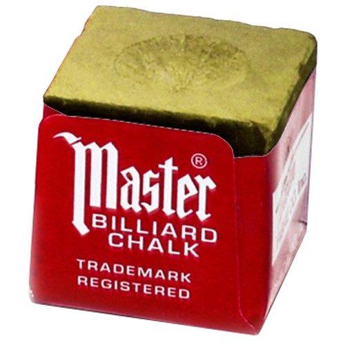 kit 12 cubos de gis para palo de billar dorado
