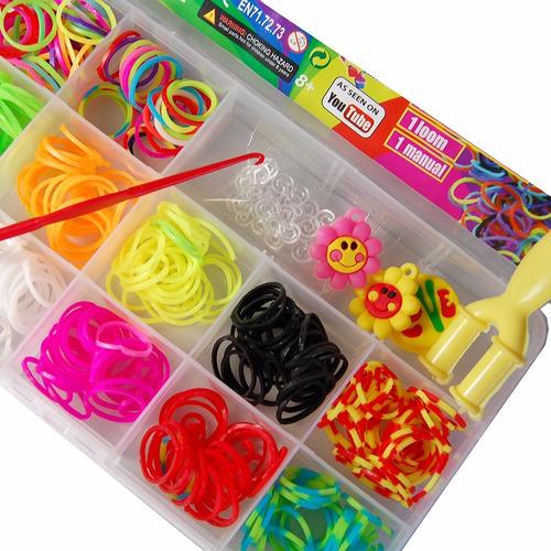 kit 12 cx band pulseira elásticos + clips + tear + agulha