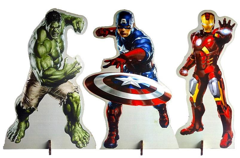 4c9da335e Kit 12 Display Mdf Vingadores Mesa Festa Hulk Frete Grátis - R$ 74 ...