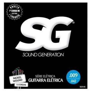 kit 12 encordoamento guitarra 009 - sg 5145 + palheta
