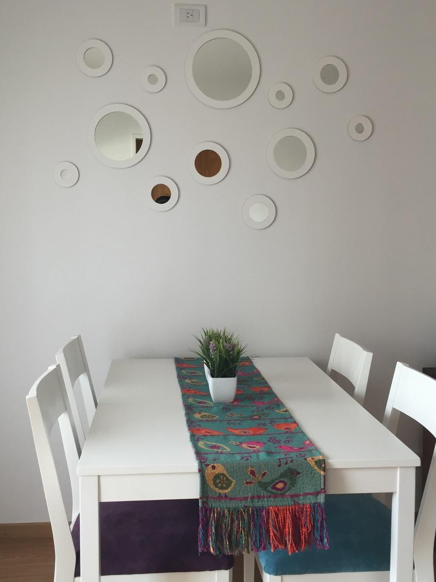 kit espejos redondos con marco para living dormitorio