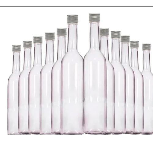 kit 12 garrafas de vidro 500 ml com tampa dourada  e lacre