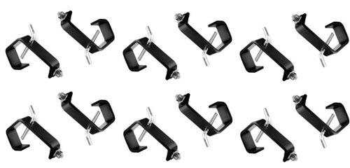 kit 12 garras de fixação iluminação 2 polegada