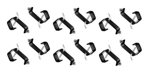 kit 12 garras de fixação iluminação e sputinik de 1 polegada